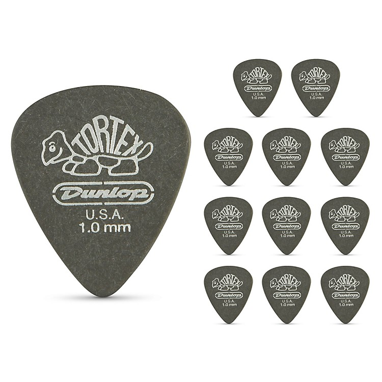 DunlopTortex Pitch Black Standard Guitar Picks 1 Dozen1.0 mm