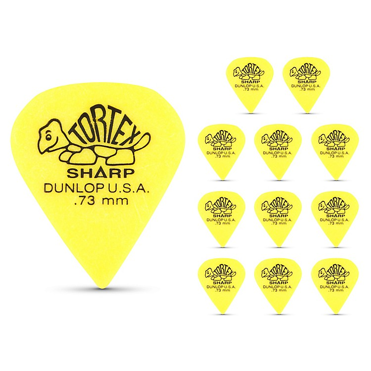 Dunlop Tortex Sharp Guitar Picks 1 Dozen .73Mm