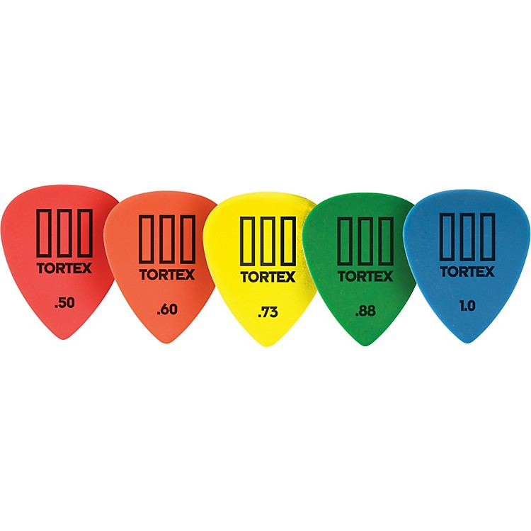 Dunlop Tortex T3 Sharp Tip Guitar Picks 12-Pack 1.00 MM