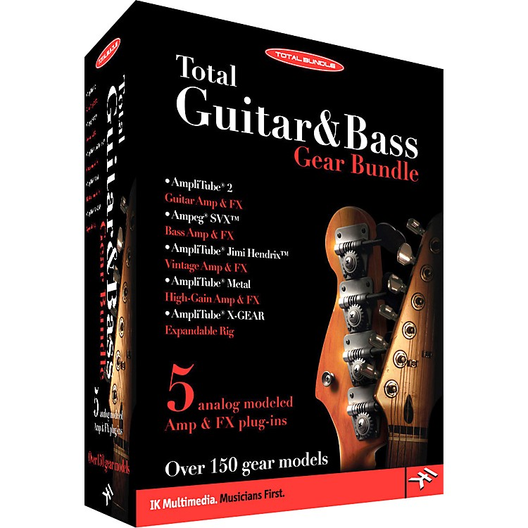 IK Multimedia Total Guitar & Bass Gear Bundle Full