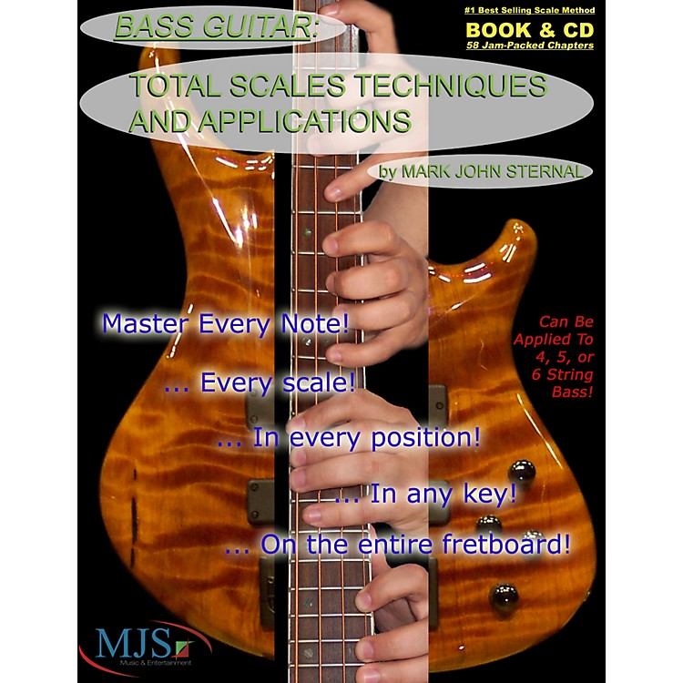 MJS Music Publications Total Scales Techniques and Applications - Bass (Book/CD)