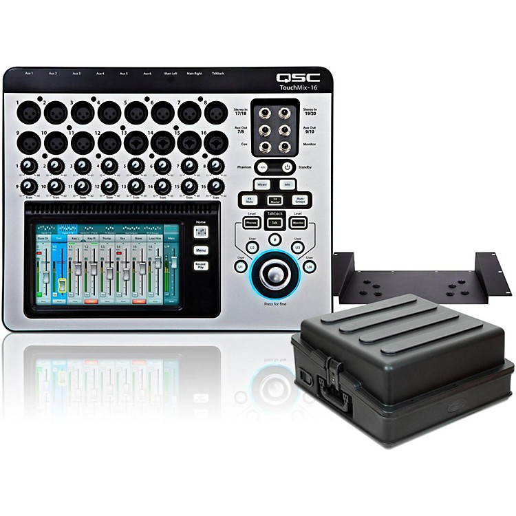 QSCTouchMix-16 Compact Digital Mixer with Rackmount Kit and Case