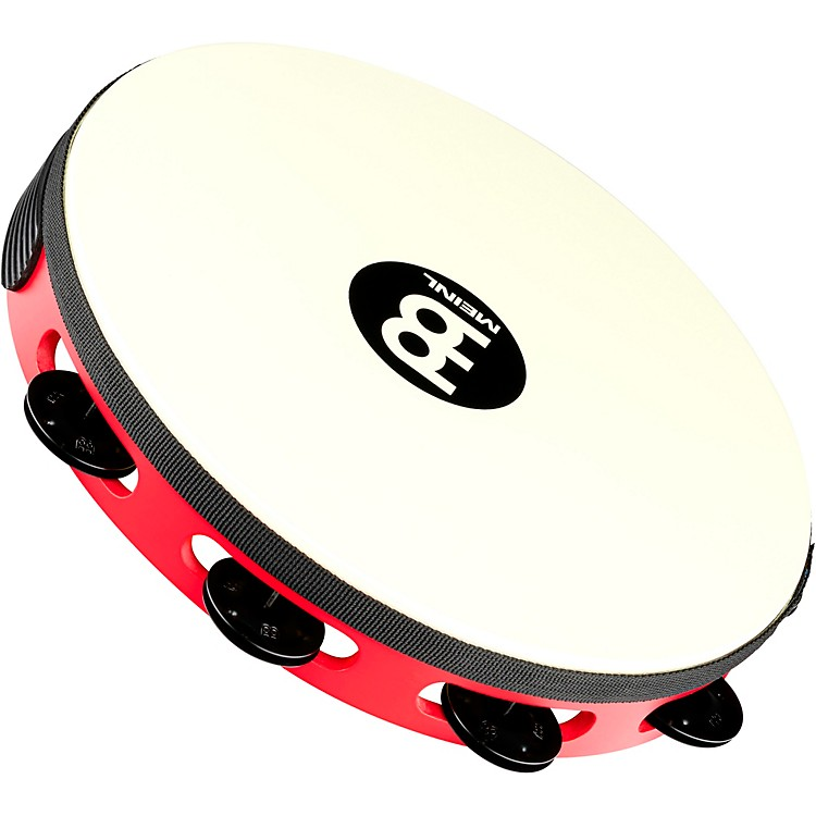 MeinlTouring Synthetic Head Wood Tambourine One RowRed