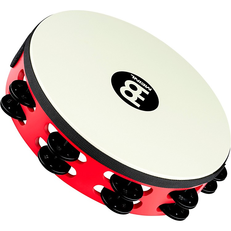 MeinlTouring Synthetic Head Wood Tambourine Two RowsRed