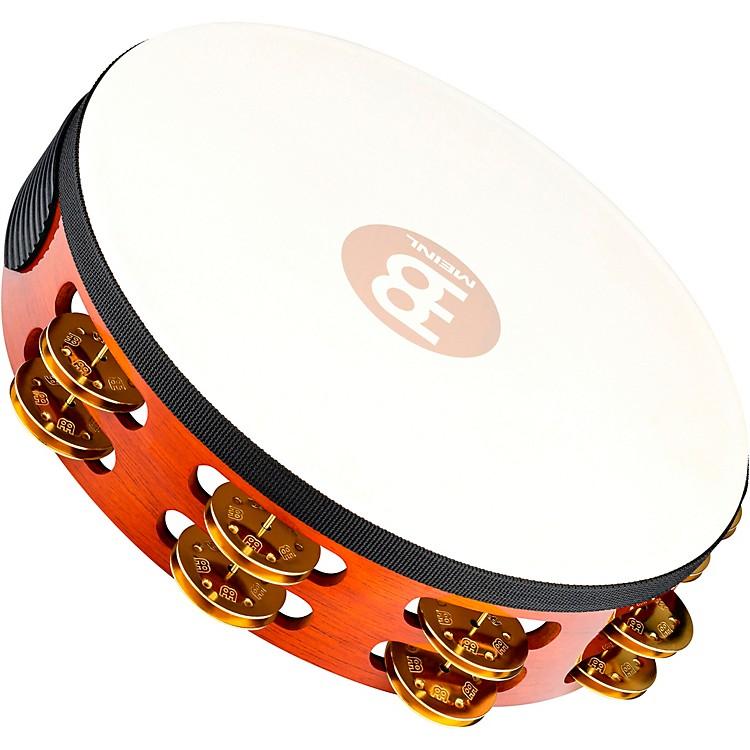 MeinlTraditional Goat-Skin Wood Tambourine Two RowsBrass Jingles