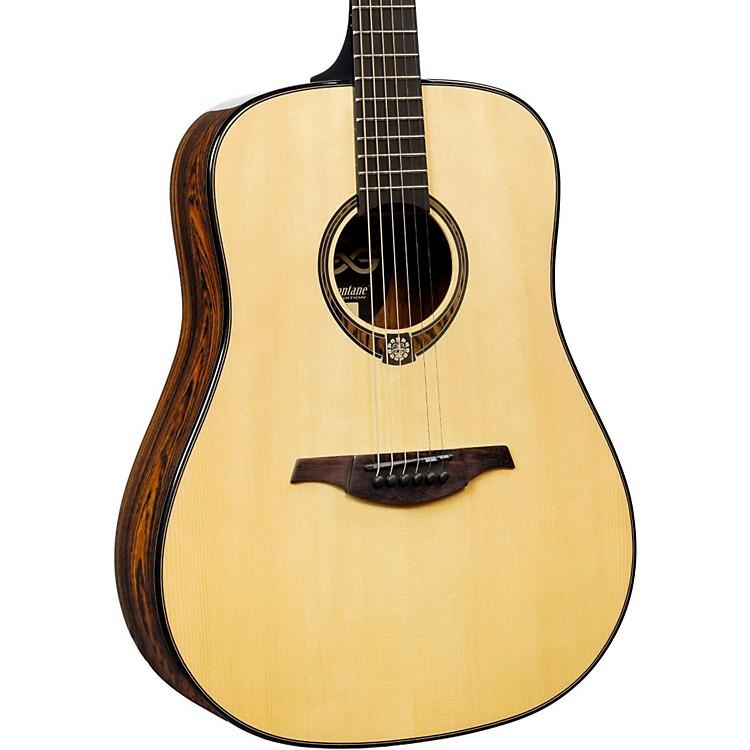 Lag GuitarsTramontane Limited Edition TSE701D Snakewood Dreadnought Acoustic GuitarNaturalSnake Wood