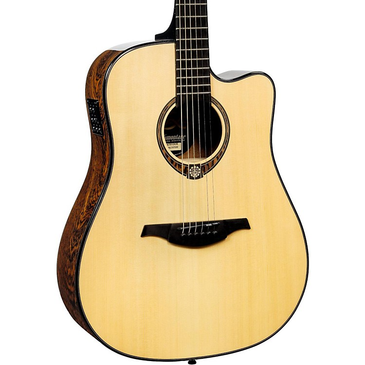 Lag GuitarsTramontane Limited Edition TSE701DCE Snakewood Dreadnought Cutaway Acoustic-Electric GuitarNaturalSnake Wood
