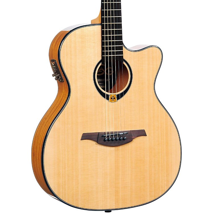 Lag Guitars Tramontane T80ACE Auditorium Cuataway Acoustic-Electric Guitar Natural