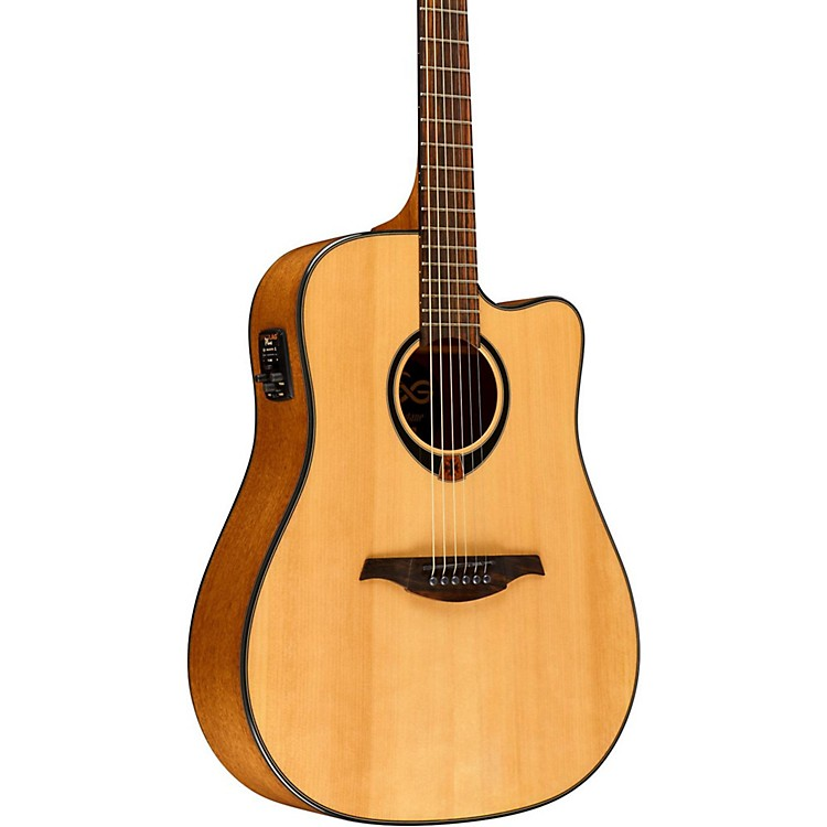 Lag GuitarsTramontane T80DCE Dreadnought Cutaway Acoustic-Electric GuitarNatural