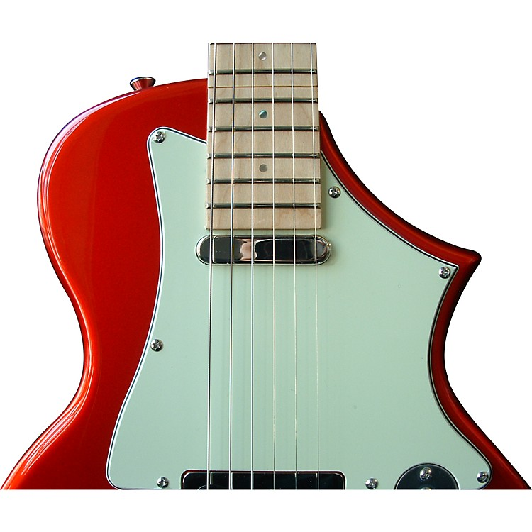 Voyage-Air Guitar TransAxe Telair VET-2 Electric Guitar with Maple Fingerboard Candy Apple Red
