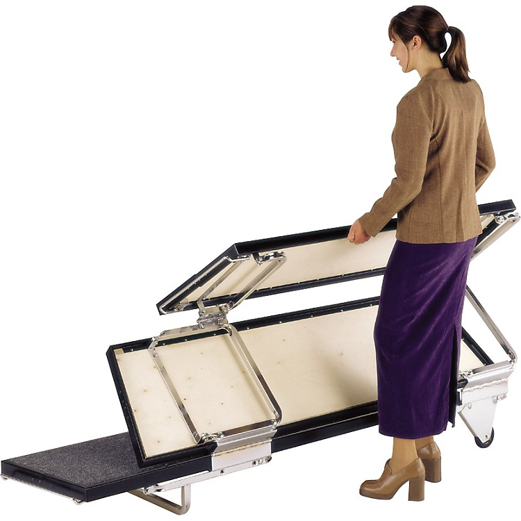 Midwest Folding Products TransFold Choral Risers 72 in. Wide, 3 Levels