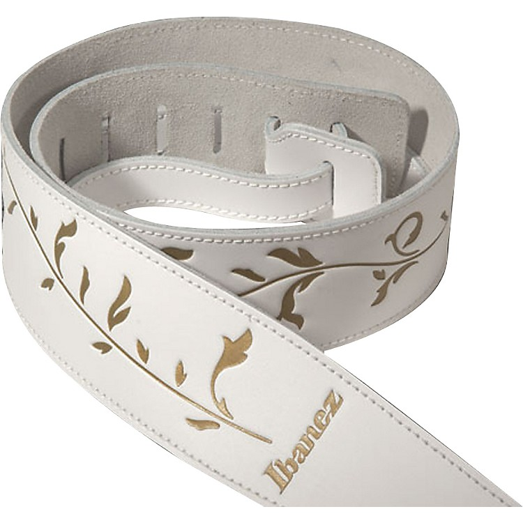 Ibanez Tree of Life Leather Strap White