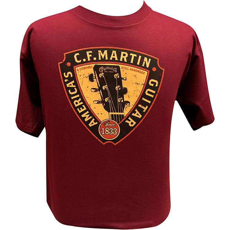 Martin Triangle Headstock T-Shirt Maroon Small