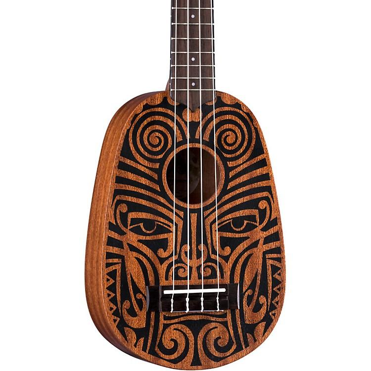 Luna GuitarsTribal Pineapple UkuleleSatin Natural