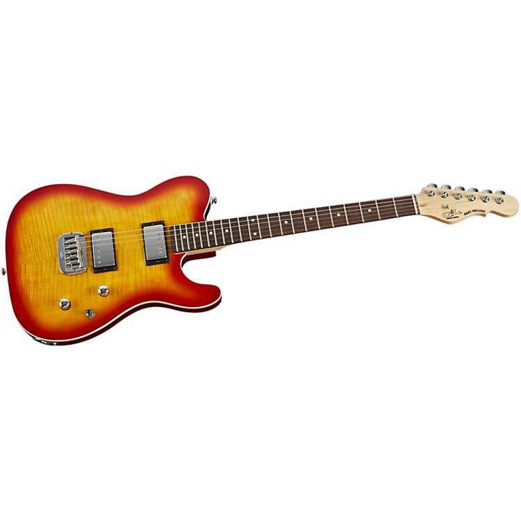 G&LTribute ASAT Deluxe Carved Top Electric GuitarCherry SunburstRosewood Fretboard