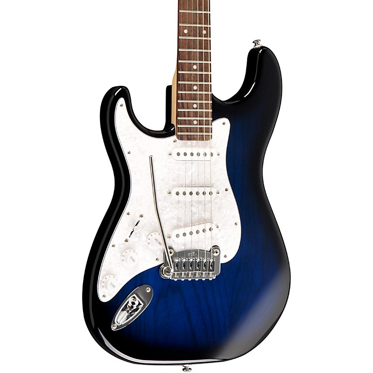 G&L Tribute Legacy Left-Handed Electric Guitar Blue Burst Rosewood Fretboard