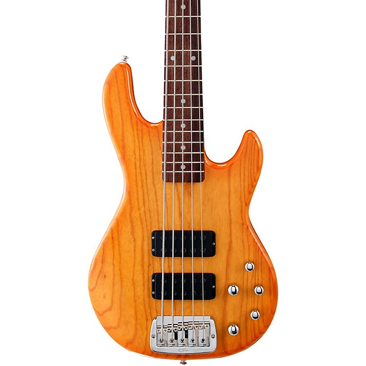 G&L Tribute M2500 5-String Electric Bass Honey Burst Rosewood Fretboard