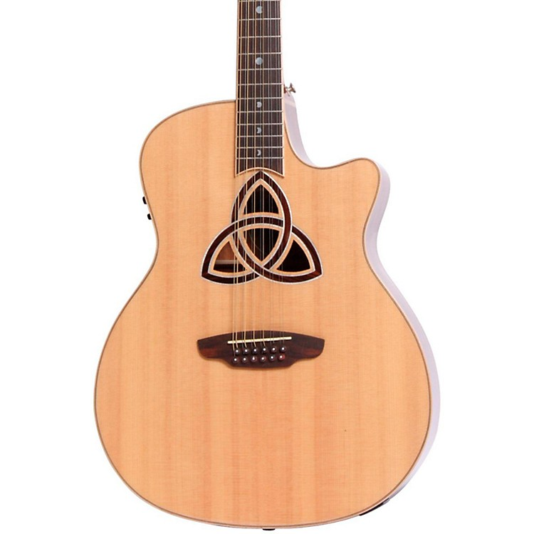 Luna Guitars Trinity 12-String Grand Auditorium Acoustic-Electric Guitar Natural