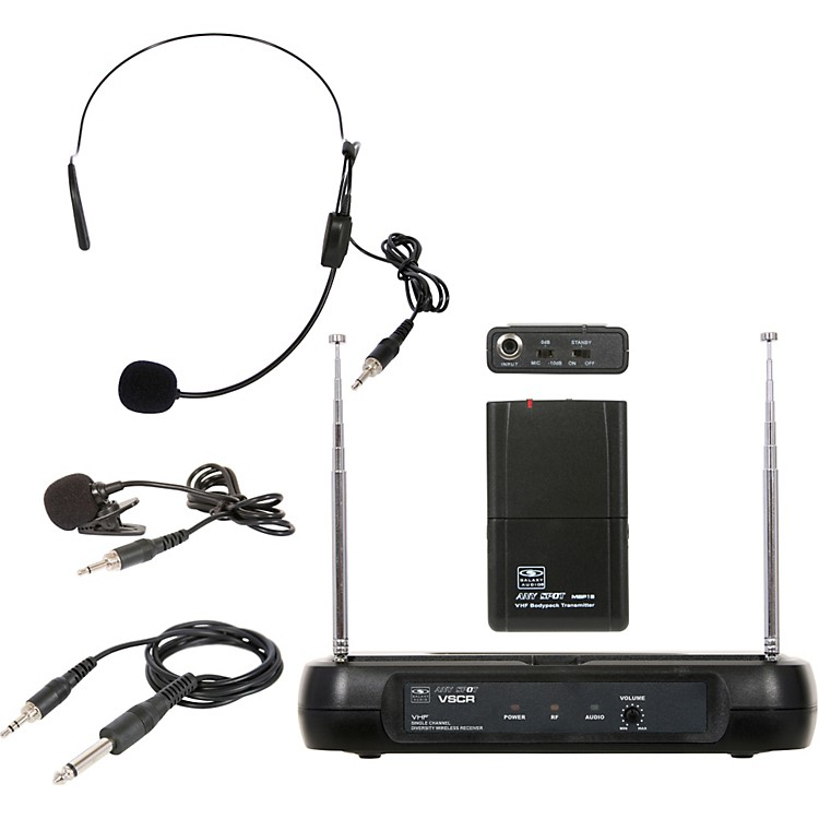 Galaxy Audio Triple Play Diversity VHF Wireless Belt Pack System Freq Code V59