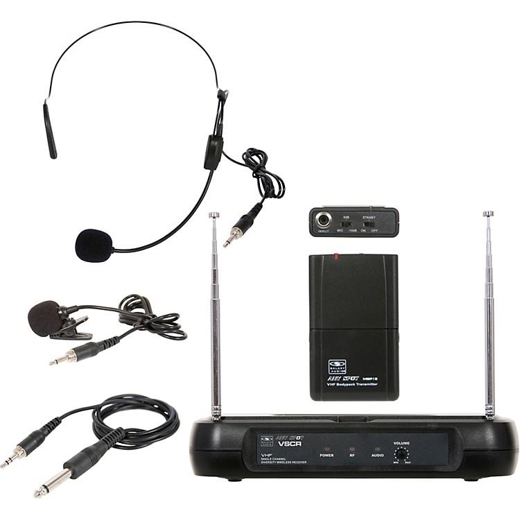Galaxy AudioTriple Play Diversity VHF Wireless Belt Pack SystemFreq Code V59