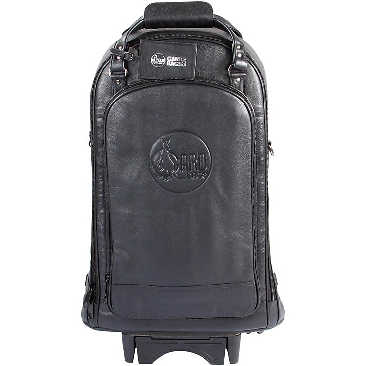 Gard Triple Trumpet Wheelie Bag 11-WBFLK Black Ultra Leather