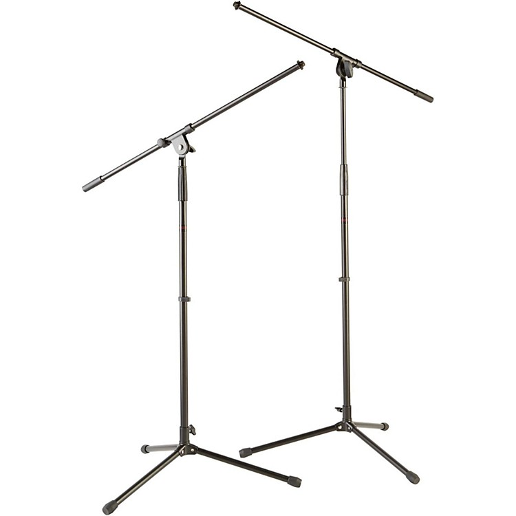 Musician's GearTripod Mic Stand with Fixed Boom (2-Pack)