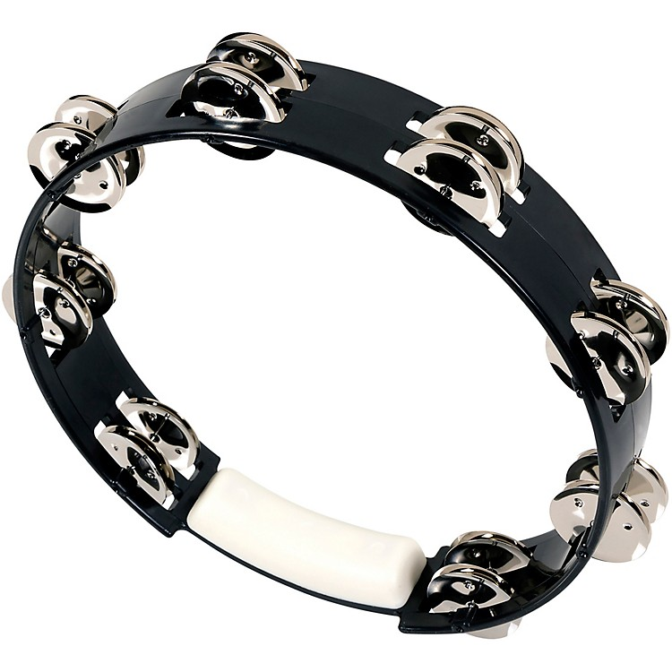 RhythmTech True Colors Tambourine Black 10 in.
