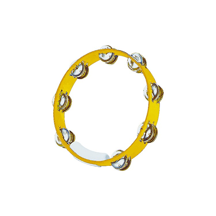 RhythmTech True Colors Tambourine Yellow 10 in.