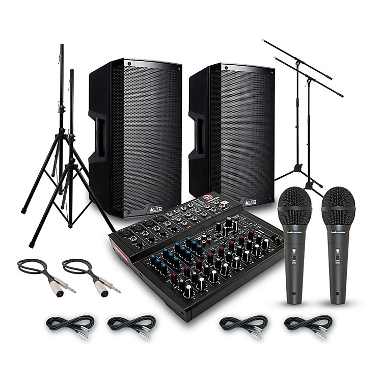 AltoTruesonic TS212 with Harbinger L1202FX PA System