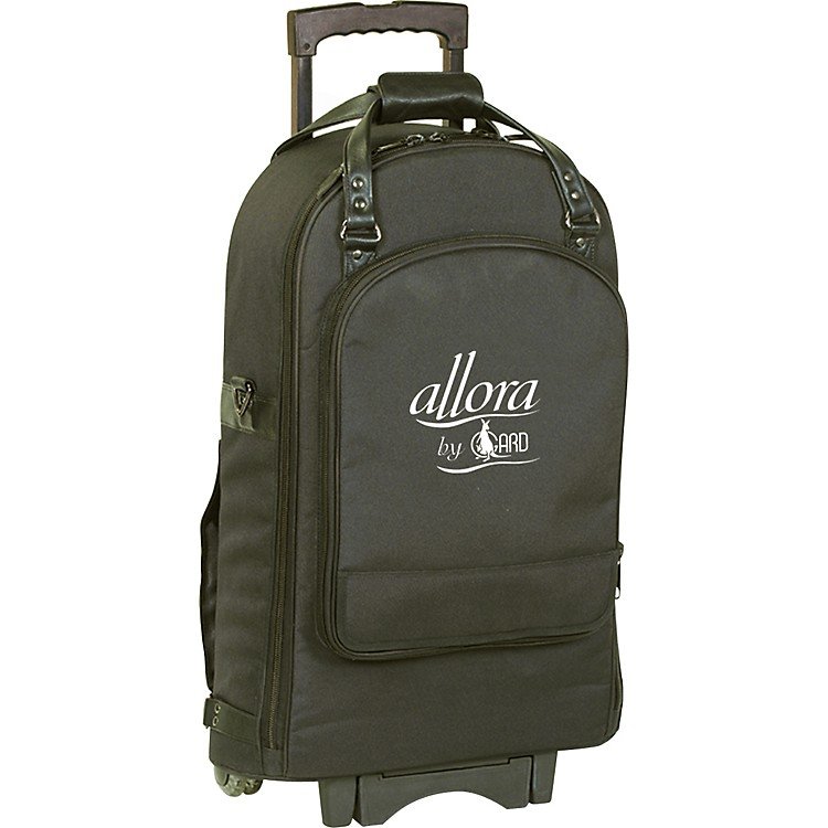 Allora Trumpet & Flugelhorn Wheelie Bag 13-WBFSK Black Gard Synthetic w/ Leather Trim