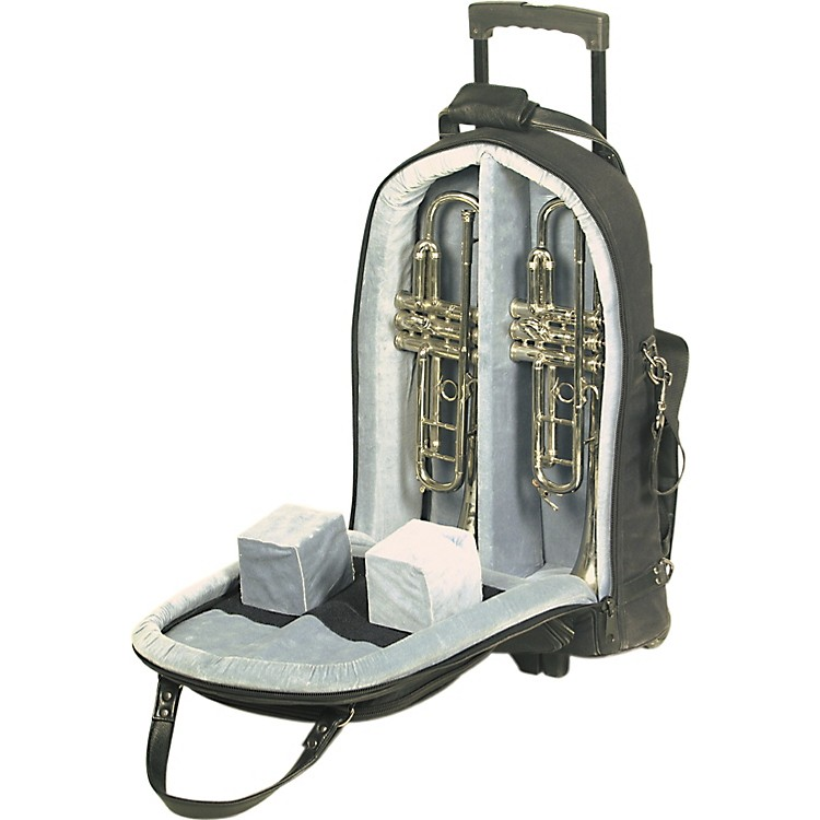 Allora Trumpet and Mute Gig Bag with Wheels 12-WBFSK Black Gard Synthetic w/ Leather Trim