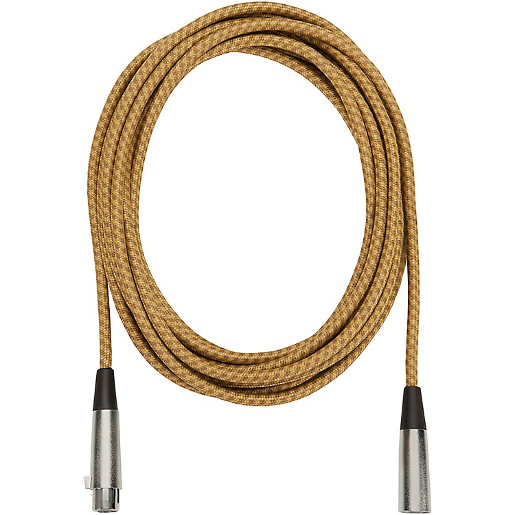 Musician's Gear Tweed Lo-Z Woven Mic Cable Gold 20 ft.