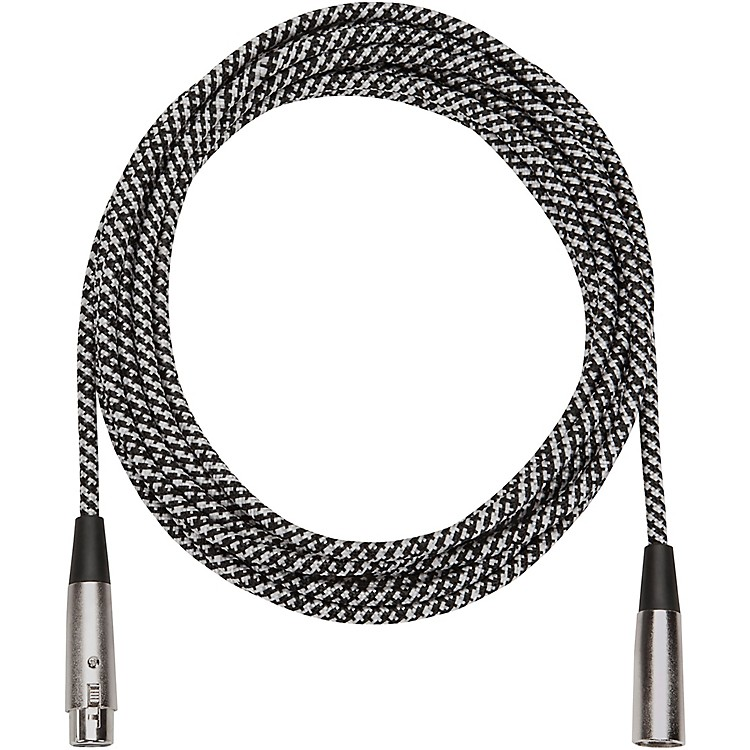 Musician's Gear Tweed Lo-Z Woven Mic Cable Gray 20 ft.