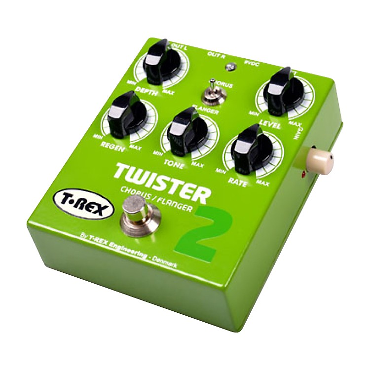 T-Rex Engineering Twister 2 Stereo Chorus and Flanger Guitar Effects Pedal Green