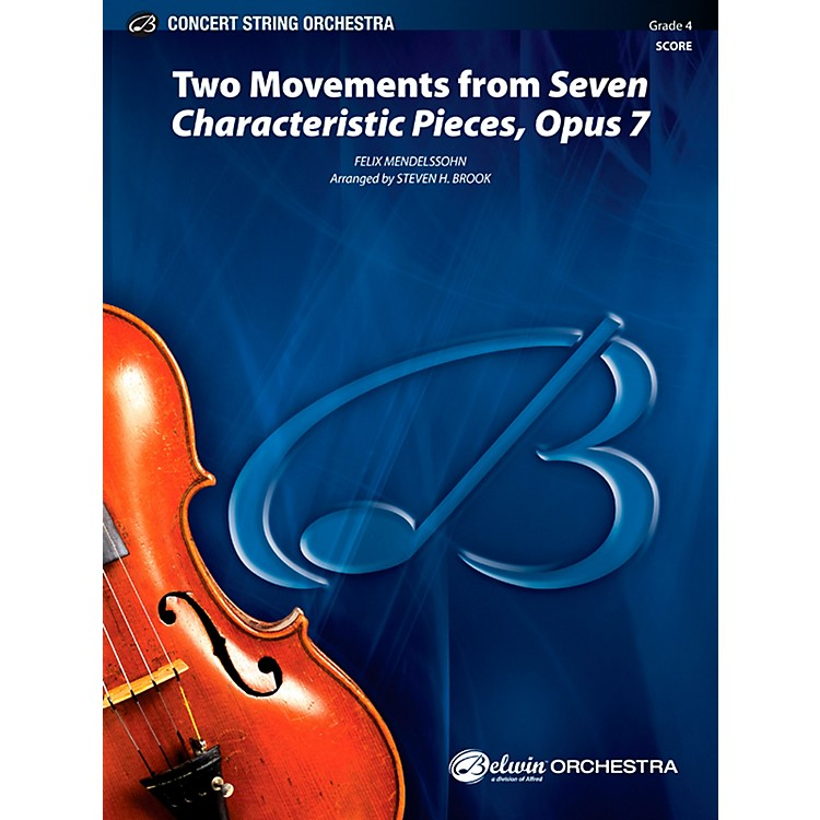 AlfredTwo Movements from Seven Characteristic Pieces, Op. 7 - Concert String Orchestra Grade 4 Set