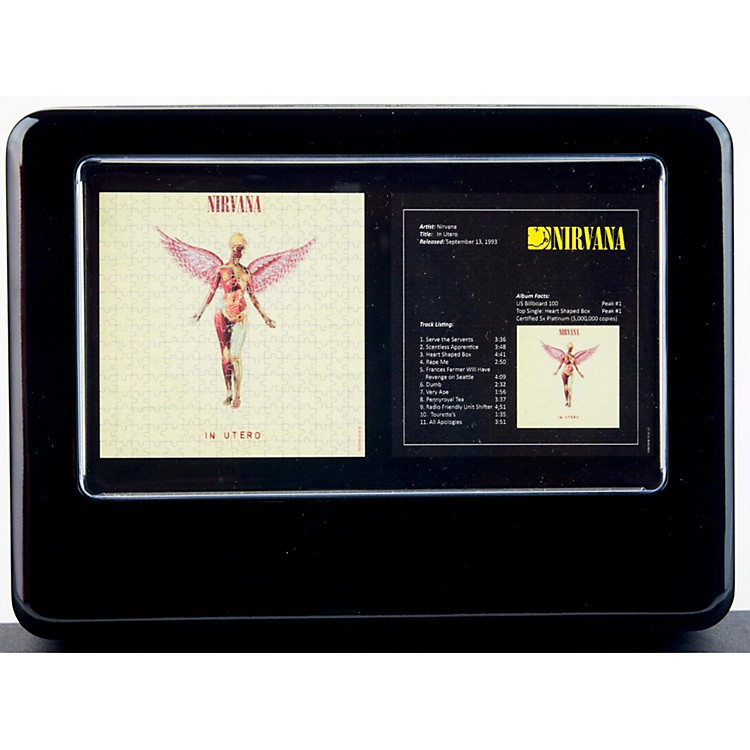 Iconic ConceptsTwo Nirvana In Utero Jigsaw Puzzles in Tin Gift Box
