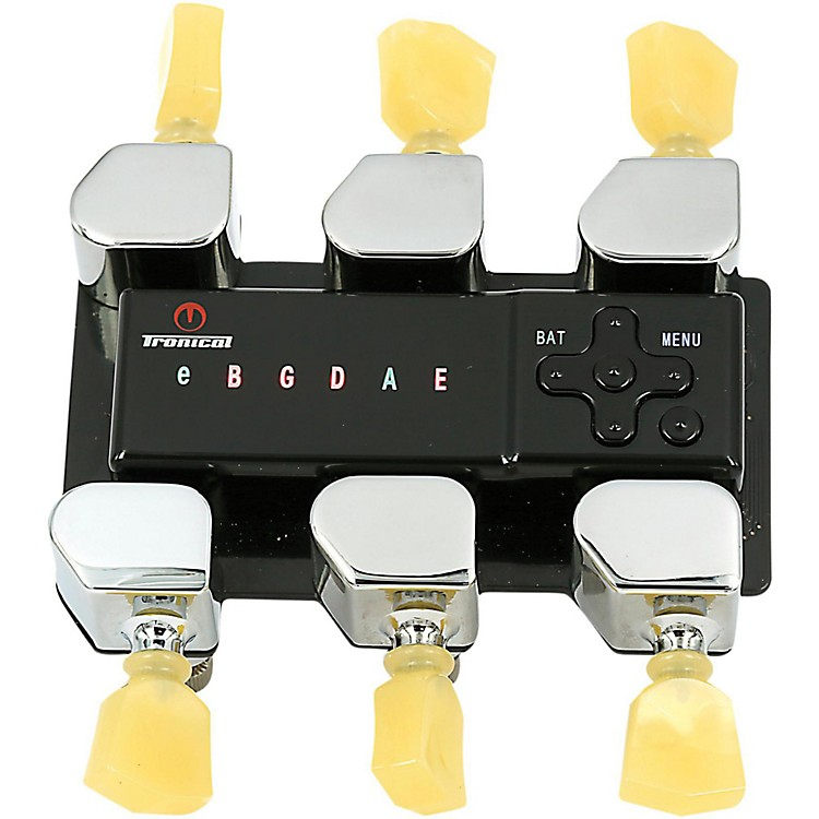 Tronical Tuning SystemsType M Self Tuner for Guild GuitarsVintage White Marbled Tulip Button