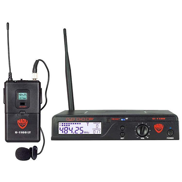 NadyU-1100 LT - 100 Channel UHF Wireless System with Omnidirectional Lavalier/Lapel MicrophoneBand B