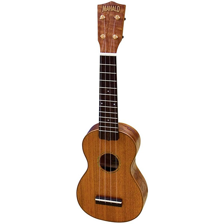 Mahalo U-350 Deluxe Soprano Ukulele with Case Natural