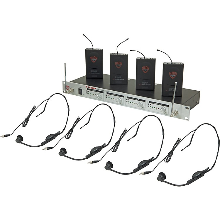Nady U-41 Quad HM1 Headset Wireless System (14/16/10/12) Black