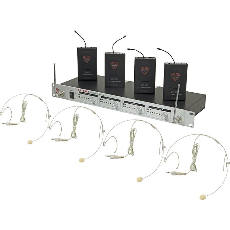 NadyU-41 Quad HM10 Headset Wireless System (14/16/10/12)Beige
