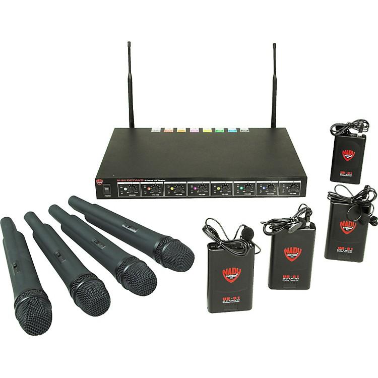 NadyU-81 OCTAVO 4 Handheld 4 Lav Wireless System (10/11/12/14/15/16/17/18)Black