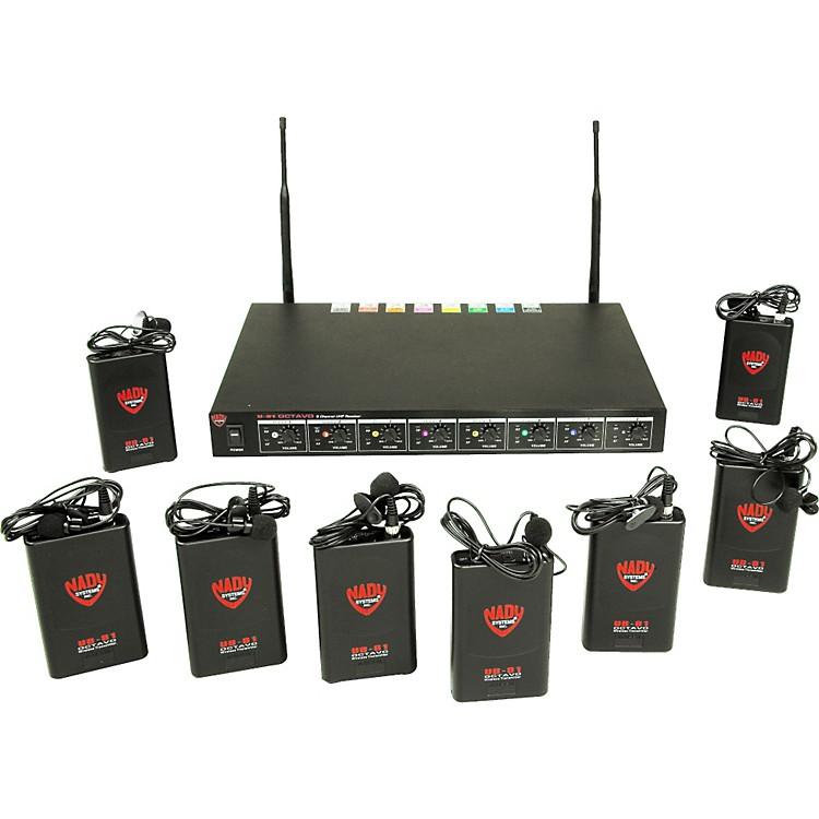 NadyU-81 OCTAVO Omni Lav Wireless System (11/12/13/16/17/19/20/21)Black