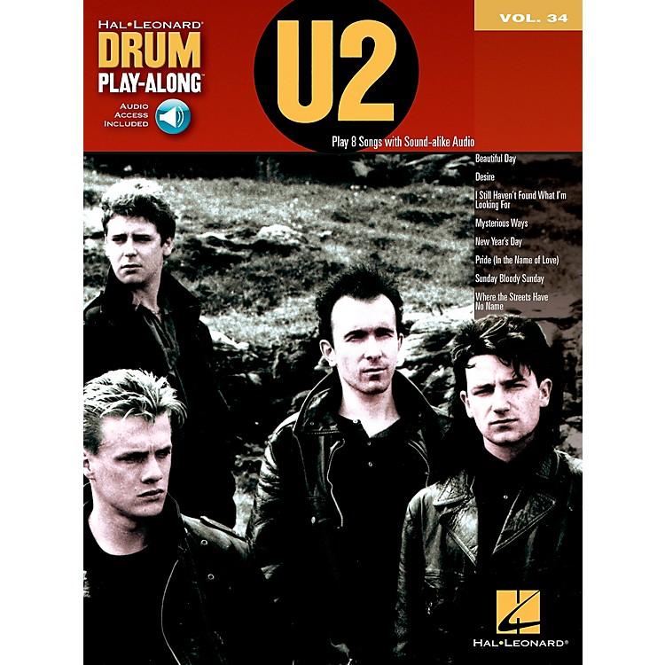 Hal LeonardU2 - Drum Play-Along Volume 34 Book/CD