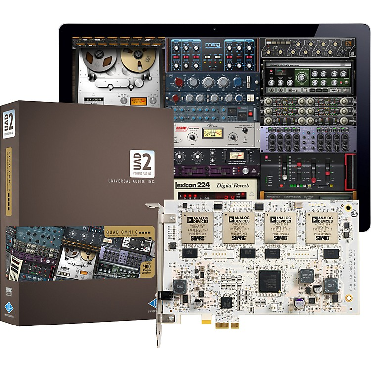 Universal Audio UAD-2 QUAD Omni 6 DSP Accelerator Card w/ Omni Plug-In Bundle