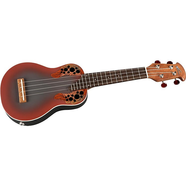 Applause UAE20 Acoustic-Electric Deluxe Soprano Ukulele Adamas Red