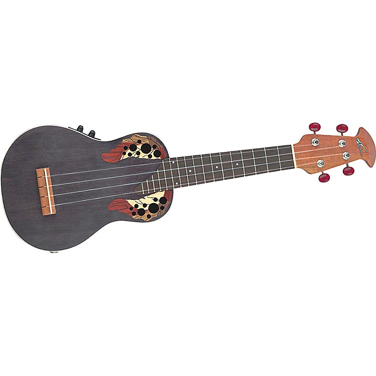Applause UAE20 Acoustic-Electric Deluxe Soprano Ukulele Black Stain