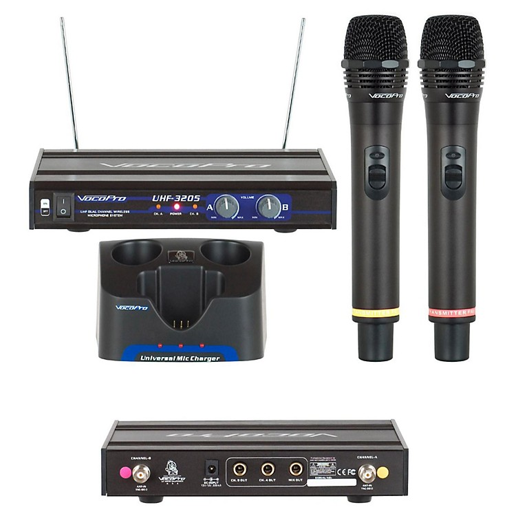 VocoProUHF-3205 Dual Rechargeable Wireless Microphone SystemSet 6