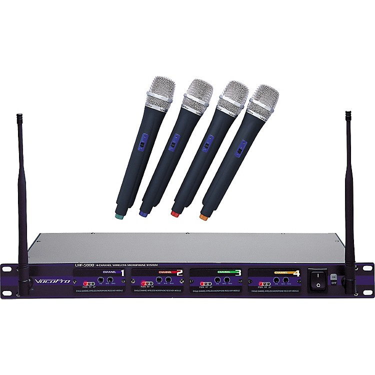 VocoPro UHF-5800 4-Microphone Wireless System Band 3
