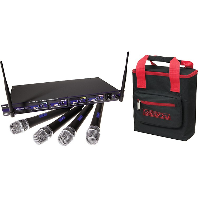 VocoProUHF-5800 Plus 4-Mic Wireless System with Mic BagBand 3